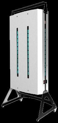 Рециркулятор-очиститель воздуха  NEWLED.NEF для помещений 300 куб.м передвижной